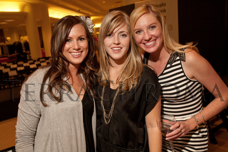 "(Denver, Colorado, Oct. 21, 2010)<br /> Jennifer Daurio, Sarah Schultz, and Monica Owens.  ""Key to the Cure,"" a women's cancer program benefit hosted by the Denver Health Foundation, at Saks Fifth Avenue Cherry Creek in Denver, Colorado, on Thursday, Oct. 21, 2010.<br /> STEVE PETERSON"