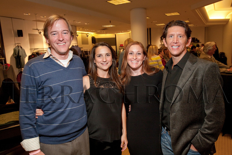 "(Denver, Colorado, Oct. 21, 2010)<br /> Chris Frampton and Yvette Pita Frampton with Debi Ast and Scott Brandt.  ""Key to the Cure,"" a women's cancer program benefit hosted by the Denver Health Foundation, at Saks Fifth Avenue Cherry Creek in Denver, Colorado, on Thursday, Oct. 21, 2010.<br /> STEVE PETERSON"