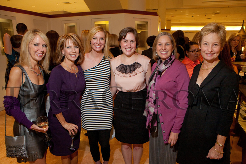 "(Denver, Colorado, Oct. 21, 2010)<br /> Keri and Kim Christiansen, Monica Owens, Jane McGillem, Frances Owens, and Susie Ladenburger.  ""Key to the Cure,"" a women's cancer program benefit hosted by the Denver Health Foundation, at Saks Fifth Avenue Cherry Creek in Denver, Colorado, on Thursday, Oct. 21, 2010.<br /> STEVE PETERSON"