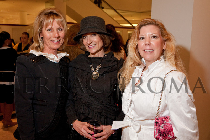 """(Denver, Colorado, Oct. 21, 2010)<br /> Trisha Hood, Sharon Whiton Gelt, and Louise Richardson.  """"Key to the Cure,"""" a women's cancer program benefit hosted by the Denver Health Foundation, at Saks Fifth Avenue Cherry Creek in Denver, Colorado, on Thursday, Oct. 21, 2010.<br /> STEVE PETERSON"""