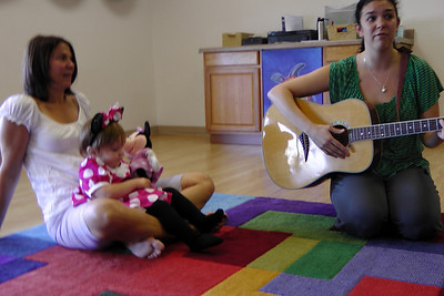 Vanessa playing the guitar
