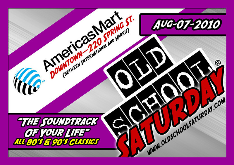 "This Aug.07.2010 event will be back at AmericasMart on their special 4th floor (fully carpeted--comfortable--great sound---oh, and THE BEST AIR CONDITIONING in ATL to keep us cool).  For tickets, VIP tables, B-Day packages, and more:   <a href=""http://www.OldSchoolSaturday.com"">http://www.OldSchoolSaturday.com</a>"