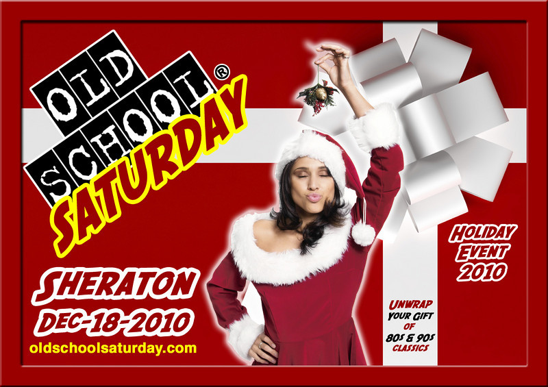 "Our end-of-year HOLIDAY EVENT will be at The SHERATON on Dec-18-2010. Please wear RED...make it festive.  Info:   <a href=""http://www.oldschoolsaturday.com"">http://www.oldschoolsaturday.com</a>"