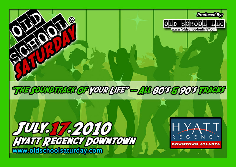 """OSS returns to THE HYATT on July 17th....huge venue in the heart of Downtown ATL.  Come enjoy """"The Soundtrack Of Your Life"""" with classics from the 80s and 90s.  Info, tickets, and VIP tables:   <a href=""""http://www.oldschoolsaturday.com"""">http://www.oldschoolsaturday.com</a>"""