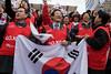 "These guys were chanting ""Go Canada Go! Go Korea Go!"""