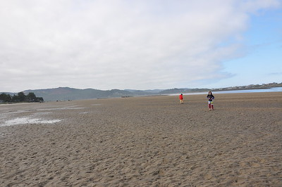 This bay / beach is HUGE, and almost nobody comes here.  Every day, it fills up with ocean water at high tide, and then most of it drains overnight at low tide.