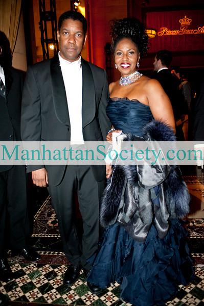 NEW YORK-NOVEMBER 10:Prince Rainier III Award recipients Denzel Washington and Pauletta Washington attend Princess Grace Awards Gala 2010 on Wednesday, November 10, 2010 at Cipriani 42nd Street, New York City, NY (PHOTO CREDIT: ©Manhattan Society.com 2010 by Christopher London)