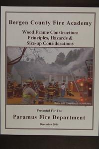 Bergen County Fire Academy - Wood Frame Construction - December 2014