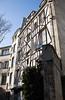 Medieval facade near Saint-Julien-le-Pauvre