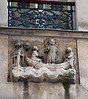 On rue Galande, apparently the oldest street sign in Paris, a 14th century stone carving