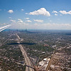 Landing in Chicago (my hometown).  Looking down the Kennedy Expressway toward downtown.