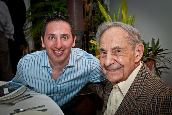 Aaron and Popop, just before the seder begins.