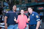 EAST HARLEM-AUGUST 11: Frank Brija with winning NYPD Officers from the Pizza eating contest  at East Harlem Landmark, Patsy's Pizzeria, 77th Anniversary Celebration on Wednesday, August 11, 2010 at Patsy's Pizzeria, 2287-91 First Avenue, New York NY, 10035 (Between East 117th/118th Streets)  (PHOTO CREDIT: ©Manhattan Society.com 2010 by Christopher London)