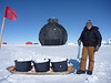 The sledge is used to collect snow for drinking water<br /> <br /> Photo: Kenji Kawamura