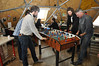 The foosball table is often used <br /> <br /> Photo: Wang Shimeng