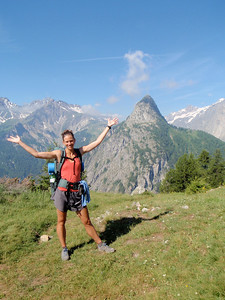 Jennifer Davis Hiking in Europe.
