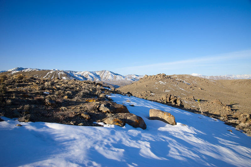 A crisp morning in the Inyo Mountains.