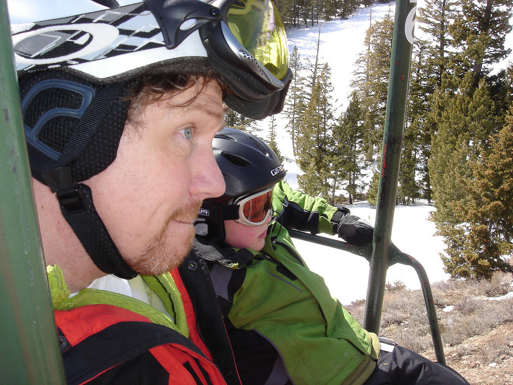 Me and G skiing in Sun Valley