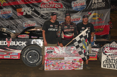 Earl Pearson, Jr. and crew in Victory Lane @ Portsmouth Raceway Park
