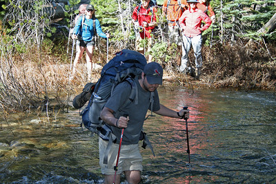 Crossing Blue Jay Creek - swift and cold