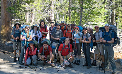 End of the trail. A bunch of non-backpackers that are now pros.