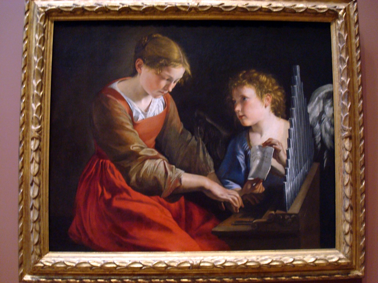 National Gallery of Art - Saint Cecilia and an Angel, c. 1617/1618 and c. 1621/1627, Orazio Gentileschi and Giovanni Lanfranco