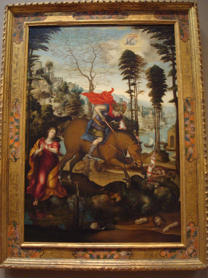 National Gallery of Art - Saint George and the Dragon, probably 1518, Sodoma