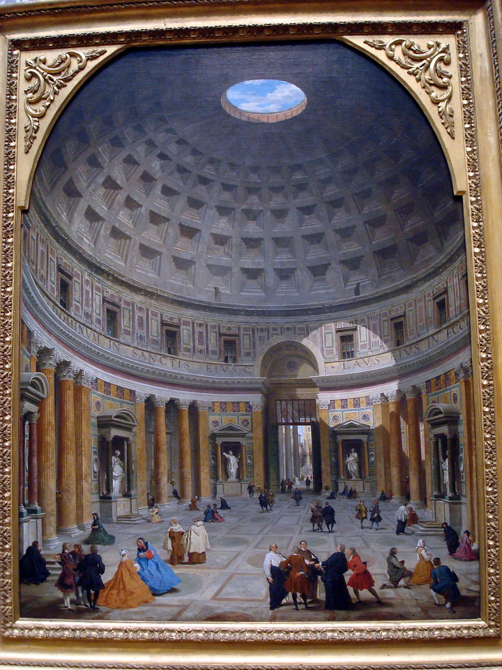 National Gallery of Art - Interior of the Pantheon, Rome, c. 1734/1735, Giovanni Paolo Panini