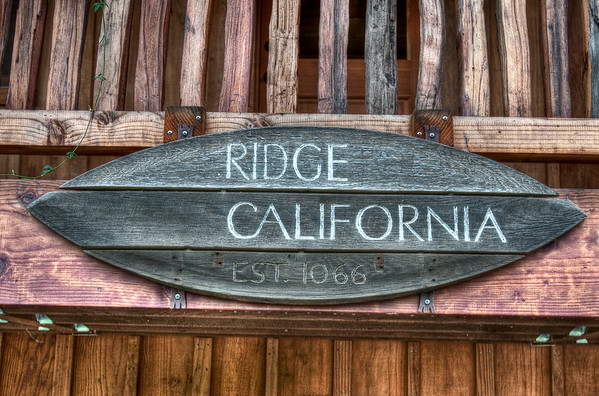 The Ridge Winery sign