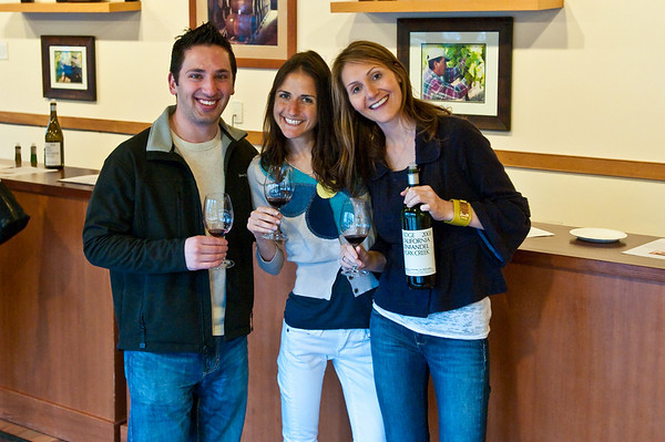 Aaron, Mishkie and Rachel enjoying our wine tasting experience at Ridge Wineries March 2010 First Friday event!