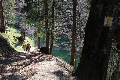 richting Muntele Rosu