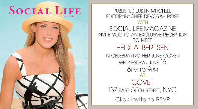 NEW YORK-JUNE 16: SOCIAL LIFE MAGAZINE Reception with June Cover Model HEIDI ALBERTSEN on Wednesday, June 16, 2010   at COVET Restaurant & Lounge, 137 East 55th Street, New York City, NY (PHOTO CREDIT: ©Manhattan Society.com 2010 by Christopher London)