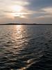 Setting sun on water