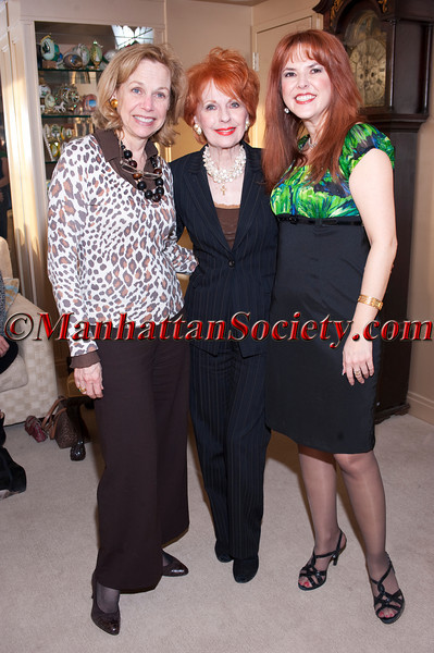 NEW YORK-APRIL 29: Mitzi Perdue,  Barbara Meister Bender, Lorraine Cancro  attend  Cocktail Party hosted by Henric Shwartz & Lorraine Cancro with Sapir College of Israel Film Department on Thursday, April 29, 2010 at Fifth Avenue residence of Mitzi Perdue, New York City, NY. (PHOTO CREDIT: ©Manhattan Society.com 2010 by Christopher London)