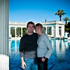 Sammi and I in front of the Neptune Pool at Hearst