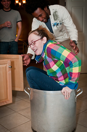 Heather couldn't exactly fit in the pot