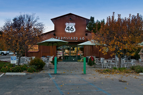 Farmstand 46 sells some yummy food -- and behind it was our first winery, Four Vines!