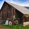 The awesome barn and old tractor at Rotta Winery<br /> <br /> Non-HDR version