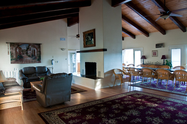The living room of our hacienda, the Dancing Deer Farm