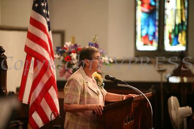 Sr. Yliana Hernandez, PBVM, Principal, welcomes everyone to Nora Cronin Presentation Academy's first graduation on Saturday, June 12, 2010 at Calvary Presbyterian Church in Newburgh, NY. Hudson Valley Press/CHUCK STEWART, JR.