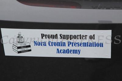 A bumper sitcker on a car outside of Calvary Presbyterian Church where Nora Cronin Presentation Academy held its first graduation on Saturday, June 12, 2010 in Newburgh, NY. Hudson Valley Press/CHUCK STEWART, JR.