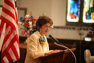 Commencement Speaker Sr. Maria Lopez, PBVM, addresses Nora Cronin Presentation Academy's first graduating class in Calvary Presbyterian Church on Saturday, June 12, 2010 in Newburgh, NY. Hudson Valley Press/CHUCK STEWART, JR.