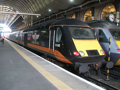 43480 sits on the blocks at Kings Cross.