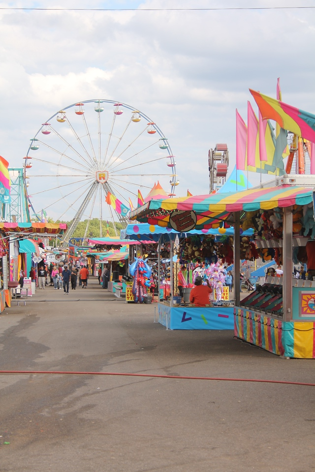 Rides, Games, and Food all at the Cleveland County Fair