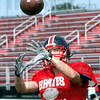 Receiver: South's Kevin Bracken hauls in a pass during a drill Thursday afternoon as the team prepares for this weekend's game.