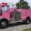 Pretty in pink: The Pink Heals fire engines made a stop in Fairbanks Park Thursday for a Breast Cancer awareness event.