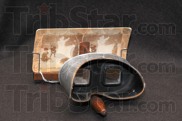 Double vision: This stereoscope from the late 1800s is one of the treasures kept at the Vigo County Historical museum.