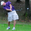 Head down: Troy Farris hits from the fairway on the front nine at Hulman Links.