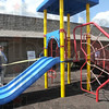 Therapy: Union Hospital's new playground for Pediatric Therapy was dedicated Friday afternoon.
