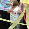 Can't wait: Seven-year-old Alexys Field waits for the ribbon cutting that will dedicate the Pediatric Therapy playground Friday afternoon at Union Hospital.